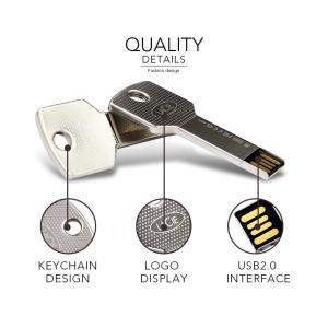 LaCie iamakey v2 USB 2.0 Flash Drive USBメモリー 8GB メタルシルバー (プラケースパッケージ無) / 送料無料|bestsupplyshop|05