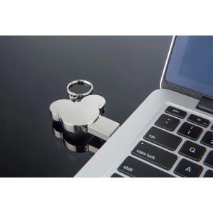 ミッキーマウス型 メタル USBフラッシュメモリー USB2.0 16GB シルバー [商品コード155]|bestsupplyshop|02