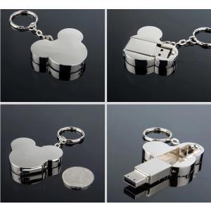 ミッキーマウス型 メタル USBフラッシュメモリー USB2.0 16GB シルバー [商品コード155]|bestsupplyshop|03