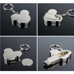 ミッキーマウス型 メタル USBフラッシュメモリー USB2.0 64GB シルバー[商品コード120]|bestsupplyshop|03
