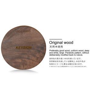 天然木の質感が心地よい 木製置くだけ充電 ワイヤレス充電器Qiチャージャー ブラウンウッド for iPhone Xs / XR / 8(Plus) / Galaxy Note8/S8 etc...|bestsupplyshop|04