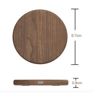 天然木の質感が心地よい 木製置くだけ充電 ワイヤレス充電器Qiチャージャー ブラウンウッド for iPhone Xs / XR / 8(Plus) / Galaxy Note8/S8 etc...|bestsupplyshop|07