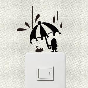 スイッチ、コンセント周りを彩るウォールステッカー wall decoration 「あまやどり」|bestsupplyshop