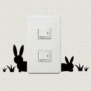 スイッチ、コンセント周りを彩るウォールステッカー wall decoration 「こんにちは」|bestsupplyshop