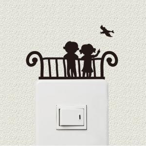 スイッチ、コンセント周りを彩るウォールステッカー wall decoration 「あ、とりだ!」|bestsupplyshop