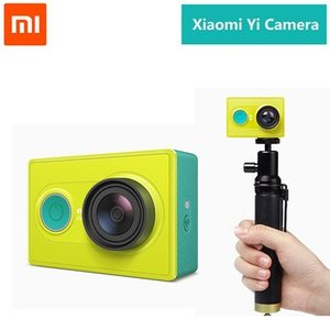 Xiaomi Yi 小米アクションスポーツカメラ Action Camera ウェアラブルアクションカム (イエロー黄色)+撮影用ポール|bestsupplyshop