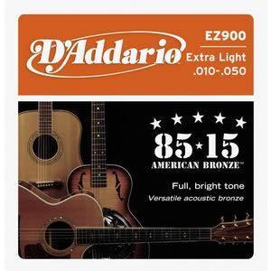 EZ900/85/15 AMERICAN BRONZE/アコースティックギター弦/D'Addario/ダダリオ|beta-music