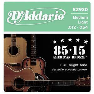 EZ920/85/15 AMERICAN BRONZE/アコースティックギター弦/D'Addario/ダダリオ|beta-music