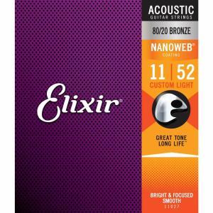 Elixir エリクサー アコースティックギター弦 #11027 NANOWEB Custom Light .011-.052|beta-music