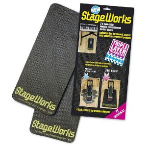滑り止め&床の傷つき防止/ペダル マット「2枚1組」StageWorks/Non-slip Pedal Mat|beta-music