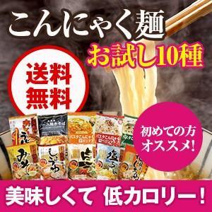 こんにゃく麺お試しセット全10種×各1袋 低カロリー 蒟蒻麺...