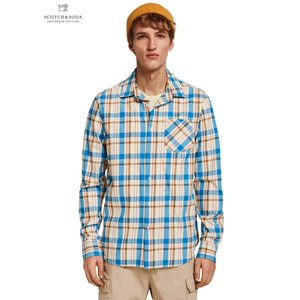 SCOTCH&SODA/スコッチ&ソーダ Brushed Checked Shirt Regular fit BLUE|bethel-by