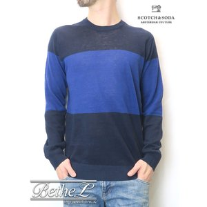 【SALE/50%OFF】送料無料 SCOTCH&SODA/スコッチ&ソーダ  LINE PULLOVER KNIT bethel-by