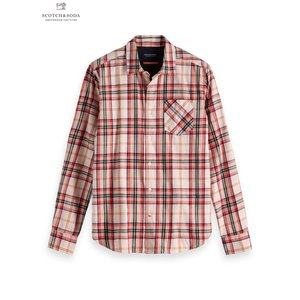 SCOTCH&SODA/スコッチ&ソーダ Brushed Checked Shirt Regular fit PINK|bethel-by