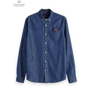 SCOTCH&SODA/スコッチ&ソーダ Regular Fit 1 Pocket Clean Denim Shirt|bethel-by