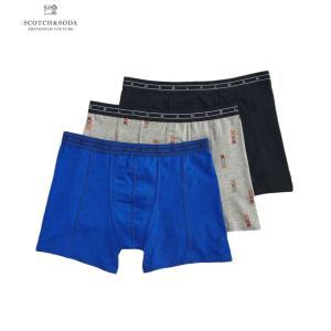 送料無料 SCOTCH&SODA/スコッチ&ソーダ 3-Pack Boxer Shorts BULE×GRAY×BLACK bethel-by