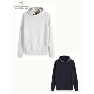 SCOTCH&SODA/スコッチ&ソーダ Neps felpa hoodie with special tape closure|bethel-by