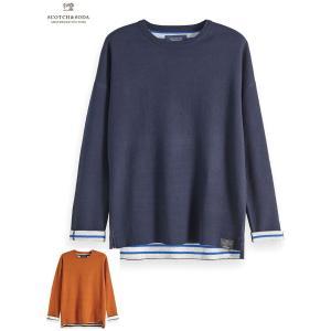 送料無料 SCOTCH&SODA/スコッチ&ソーダ  Reversible Contrast Pullover 2Color bethel-by