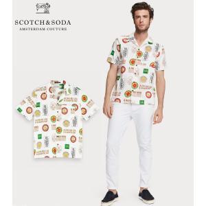 送料無料 SCOTCH&SODA/スコッチ&ソーダ ハワイアンシャツ Printed Cotton Shirt Hawaii fit Combo A 292-12415 【155245】 bethel-by