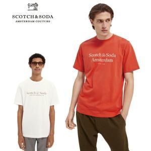 送料無料 SCOTCH&SODA/スコッチ&ソーダ プリントTシャツ Cotton jersey logo T-shirt  292-34416 【160860】 bethel-by