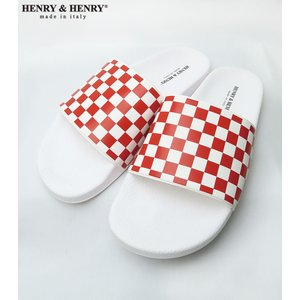 HENRY&HENRY/ヘンリーアンドヘンリー SANDAL 180 CHECKER RED bethel-by
