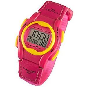 バイブラライトMini 女性やお子様向け振動式デジタル腕時計 振動+音でお知らせ(ストロべりーピンク) |better-hearing