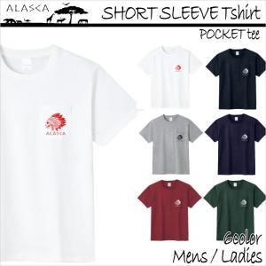 ALASCA Tシャツ メンズ 半袖 16-17 ALASCA スノーボード ショートスリーブ ポケット indy レディース  メール便送料無料|betties-shop