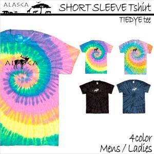 ALASCA Tシャツ メンズ 半袖 16-17 ALASCA スノーボード ショートスリーブ タイダイ moose レディース  メール便送料無料|betties-shop