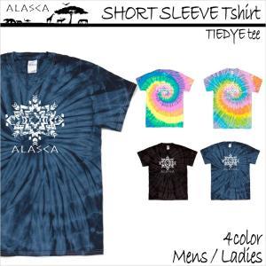 ALASCA Tシャツ メンズ 半袖 16-17 ALASCA スノーボード ショートスリーブ タイダイ native レディース  メール便送料無料|betties-shop