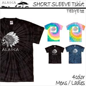 ALASCA Tシャツ メンズ 半袖 16-17 ALASCA スノーボード ショートスリーブ タイダイ indy レディース  メール便送料無料|betties-shop