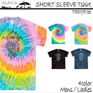 ALASCA Tシャツ メンズ 半袖 16-17 ALASCA スノーボード ショートスリーブ タイダイ dreamcatcher レディース  メール便送料無料|betties-shop