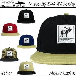 ALASCA 16-17 スナップバック キャップ スノーボード Moose メンズ レディース Moose tag SnapBack Cap メール便送料無料|betties-shop