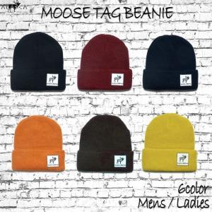 ALASCA 16-17  ムース タグ ビーニー  メンズ レディース Moose Tag Beanie ニット帽 cap ニットキャップ アラスカ|betties-shop