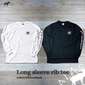 ALASCA ロング Tシャツ メンズ 長袖 long sleeve rib tee 17-18 ALASCA ロングスリーブ moose レディース   メール便送料無料 alaska アラスカ|betties-shop