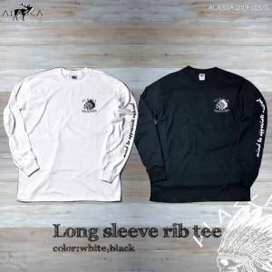 ALASCA ロング Tシャツ メンズ 長袖 long sleeve rib tee 17-18 ALASCA ロングスリーブ indy レディース   メール便送料無料 alaska アラスカ|betties-shop