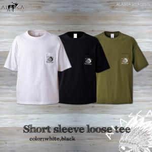 ALASCA Tシャツ メンズ 半袖 17-18 ALASCA ショートスリーブ ルーズ ポケット indy レディース  メール便送料無料 alaska アラスカ|betties-shop
