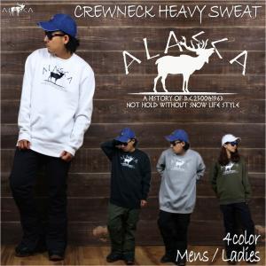 ALASCA クルーネック ヘビー スウェット スノーボード moose CREWNECK SWEAT トレーナー 2018-19  ウェア スノボ 裏起毛 メンズ レディース アラスカ 送料無料|betties-shop