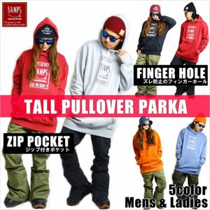 BANPS パーカー スノーボード TALL PULLOVER PARKA smileSQ 2015-16 スノボー ウェア スノボ スキー 裏起毛 メンズ レディース BANPSSNOWBOARDING|betties-shop