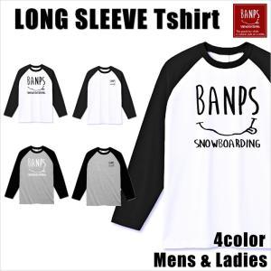 BANPS ラグラン ロングTシャツ メンズ 長袖 17-18 BANPS ロングスリーブ smile レディース メール便送料無料|betties-shop