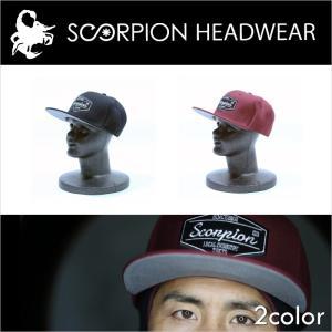 scorpion headwear キャップ CAP スナップバック snapback caplogo 全2色【メール便不可】スコーピオン|betties-shop