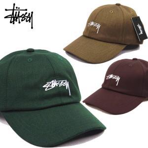 STUSSY ステューシー キャップ SUITING LOW PRO CAP ストックロゴ 帽子 メンズキャップ 131793 /sts156