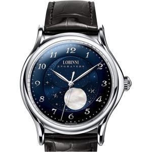 LOBINNI 腕時計 メンズ 機械式 自動巻き ビジネス サファイアガラス|bewide