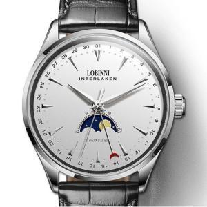 LOBINNI 腕時計 機械式 自動巻き ムーンフェイズ メンズ 42mm スイス ブランド|bewide