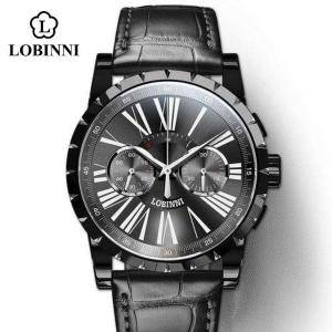 LOBINNI 腕時計 メンズ ブランド 機械式 日本製ムーブメント 手巻き|bewide
