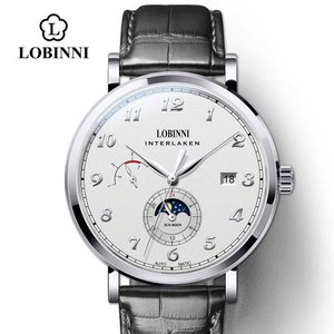 LOBINNI 腕時計 機械式 自動巻き ムーンフェイズ メンズ 42mm|bewide