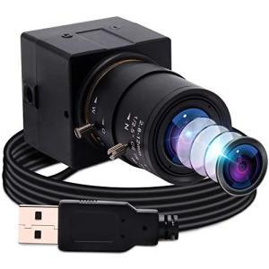 ELP 800万画素 ウェブカメラ広角手動調整可能な2.8-12 mm可変焦点レンズミニカメラ 8MP|bewide