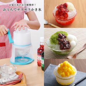 かき氷機 お家で簡単 家庭用 ブルー バラ氷 対応 手動 日本製 送料無料|beworth-shop