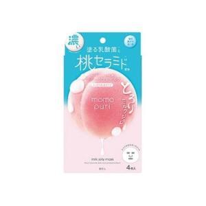 【1個まで(定形外郵便)】BCLカンパニー ももぷり 潤い濃密ミルクジュレマスク (4枚) シートマ...