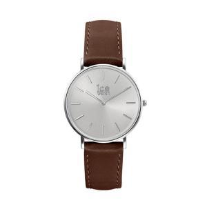 アイスウォッチ 腕時計 ICE-WATCH CITY classic - シティクラシック ブラウン シルバー (ミディアム)|beyondcool|02