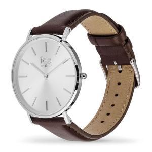 アイスウォッチ 腕時計 ICE-WATCH CITY classic - シティクラシック ブラウン シルバー (ミディアム)|beyondcool|03